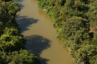 Trecho do rio Verde Grande, em Jaíba/MG.